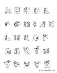 Santa Claus Christmas Alphabet Letter Worksheet Color Online Print