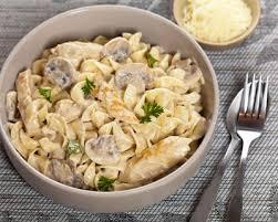 recette pâtes poulet béchamel et chignons facile rapide