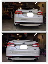 led puddle license plate and lights 2017 ford fusion