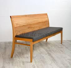 sitzbank 150x89x53cm casera kernbuche geölt stoff grau casade mobila