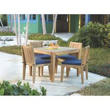 Home Depot Outdoor Dining Chair Cushions by Home Decorators Collection Bermuda 5 Piece All Weather Eucalyptus