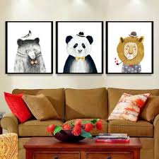 details zu 1 set niedlicher wandbilder kunstdruck leinwand bilder für wohnzimmer