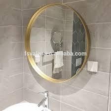 großhandel dekorative chagner gold metall rahmen kreis nordic einfachheit kommode badezimmer wand spiegel buy dekorative wand spiegel wand runde