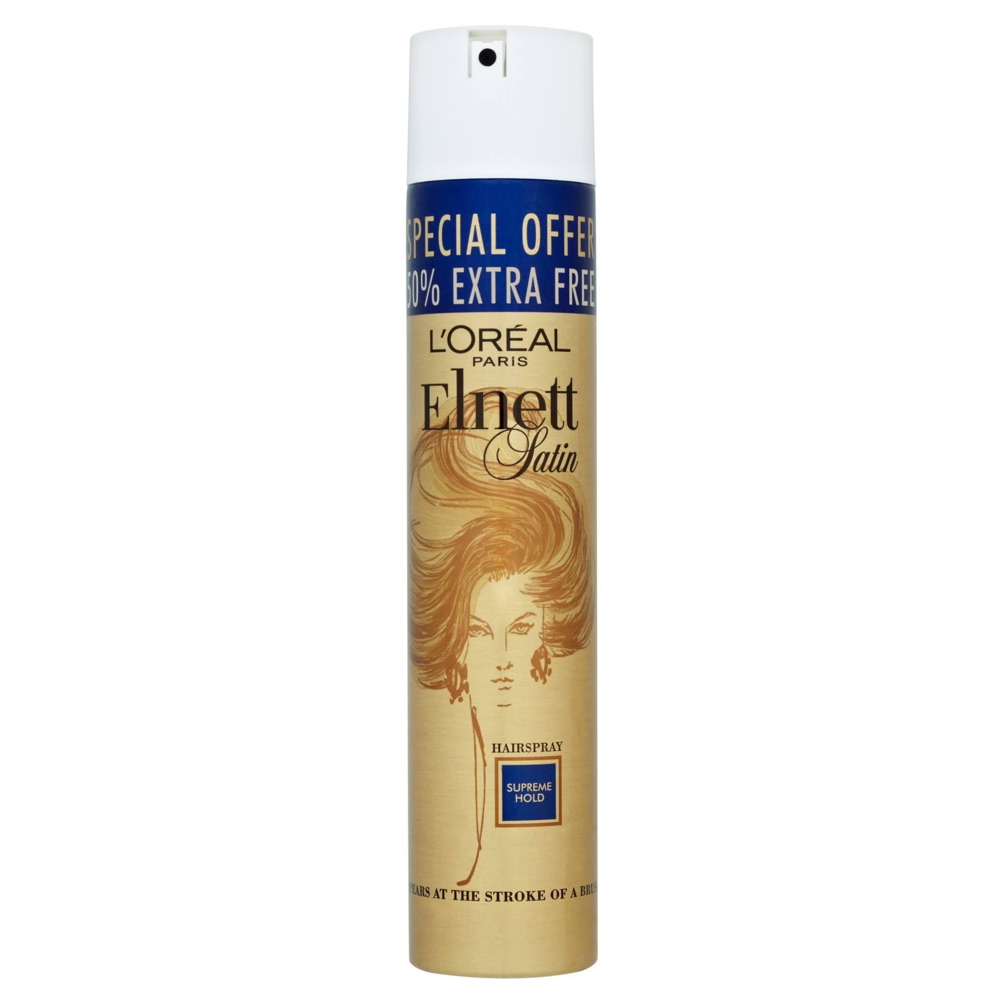 L'Oreal Elnett Satin Hairspray - Supreme Hold, 300ml