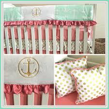 Navy And Coral Crib Bedding by Chevron Anchor Crib Bedding Decorating Anchor Crib Bedding Ideas