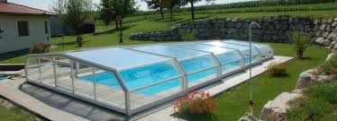 Low Swimming Pool Enclosure Telescopic Manual