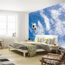 Football Blue Sky Photo Wallpaper Soccer 3d Wall Mural Custom Silk Art Painting Room Decor Children Bedroom Living High Quality