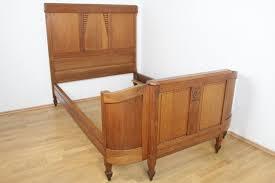 antikes bettgestell jugendstil eiche massivholz schlafzimmer