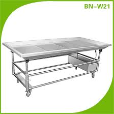cosbao stainless steel fish cleaning table sea food clean work