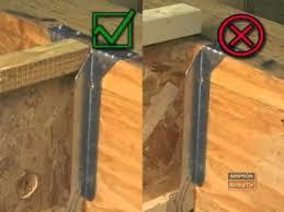 simpson strong tie joist beam hangers youtube