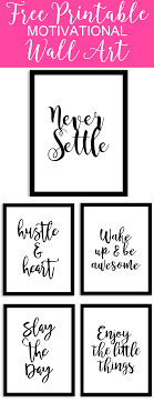 Free Printable Wall Art From Chicfetti