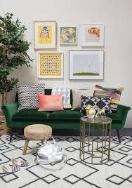 wohnzimmer ideen mit samtsofa design dekor dekoration