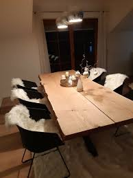 eiche tisch esstisch küchentisch massivholz stühle sitzecke holz