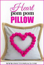 Heart Pom Pom Pillow Sutton Place