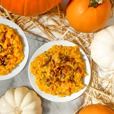 Pumpkin Risotto Recipe Easy by Creamy Pumpkin Risotto With Sweet And Spicy Roasted Pepitas Vegan