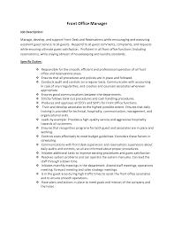 Front Desk Resume Cover Letter by Hotel Security Job Description Resume Resume For Your Job