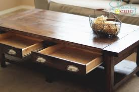 Chic Rustic Coffee Table Plans Ana White Build A Benchright Free And Easy Diy