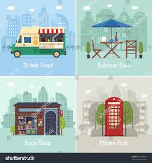 Entertainment City Places Infrastructure Spots Scenes Stock Vector ...