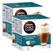 nescafé dolce gusto cappuccino intenso milchkaffee kaffeekapsel kaffee 32 kapseln 16 portionen