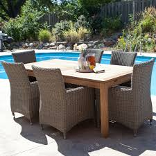 Rattan Outdoor Restaurant Furniture Rectangular Patio Table Seats Pertaining To Lounge Modern