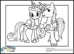 Shining Armor Coloring Pages Princess Cadence And My Little Pony Page