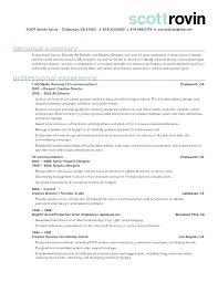 Creative Director Description Art Resume Sample Samples
