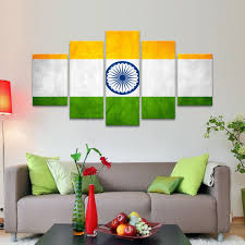 Indian Flag Multi Panel Canvas Wall Art