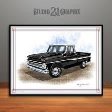 100 1960s Chevy Truck Chevrolet C10 Pickup Art Print UNFRAMED Studio 21