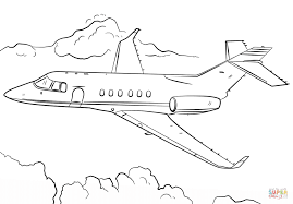 Click The Jet Airplane Coloring Pages