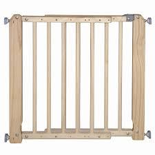 barre securite porte entree barrière de sécurité enfant bois l 69 105 cm h 73 cm leroy merlin