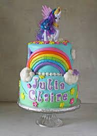 My Little Pony Rainbow Cake with Princess Celestia Rose Bakes