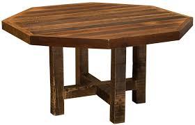 Barnwood Octagon Dining Table - 48