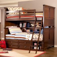 bedroom design wood bunk bed railing kids eclectic wood bunk bed