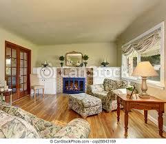 wohnzimmer wände grün blumen sofas liebling