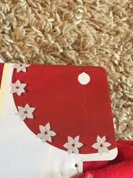 Poinsettia Christmas Tree Skirt Hover To Zoom