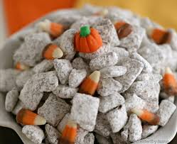 Pumpkin Spice Chex Mix With Candy Corn by Pumpkin Spice Muddy Buddy Created By Diane