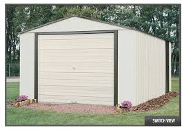 Arrow Woodridge Steel Storage Sheds by Best Garage Metal Arrow Pictures Transformatorio Us