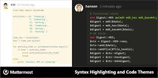 Syntax Highlighting Now Available In Markdown Code Blocks Choose Your Favorite Theme Under Accounts