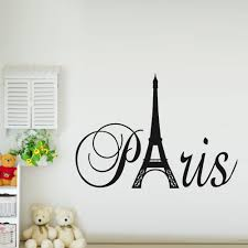 Paris Themed Living Room by Glancing Paris Art Eiffel Tower Removable Vinyl Wall Stickers