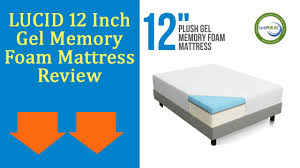 LUCID 12 Inch Gel Memory Foam Mattress Review Updated 2017