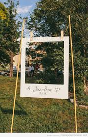 grand cadre de photos polaroid diy mariage au jardin mariage