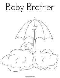 Baby Brother Coloring Page That You Can Customize And Print For Kids