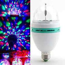 e27 3w rgb rotating led stage light bulbs disco