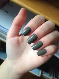 Squoval square shape long nail green kaki sephora nail polish