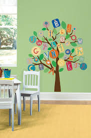 Wall Mural Decals Tree by Amazon Com Roommates Rmk2057slm Abc Primary Tree Peel And Stick