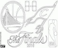 The 2016 NBA Finals Coloring Page Printable Game