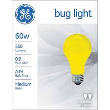 g e lighting 97495 yellow bug light bulbs 60 watt 2 pk