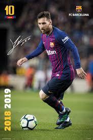 poster fc barcelona messi 2018 2019