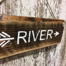 100 River House Decor Reclaimed Wood Sign