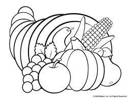 Thanksgiving Coloring Pages Cornucopia Printable Book